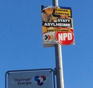 NPD-Plakat in Jena-Winzerla 2014