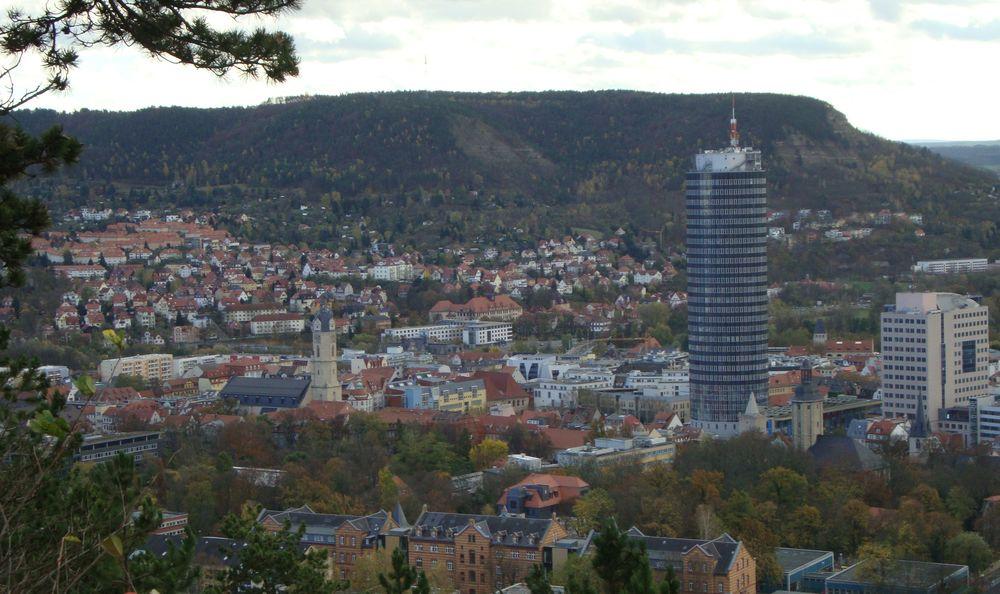 Blick auf Jena vom Landgrafen
